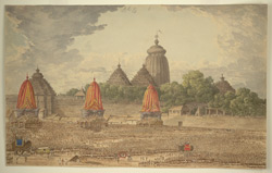Procession at the Great Temple of Jagannath, Puri (Orissa). July 1818
